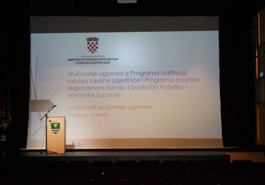 Svečana dodjela ugovora Programa održivog razvoja lokalne zajednice i Programa podrške brdsko planinskim područjima