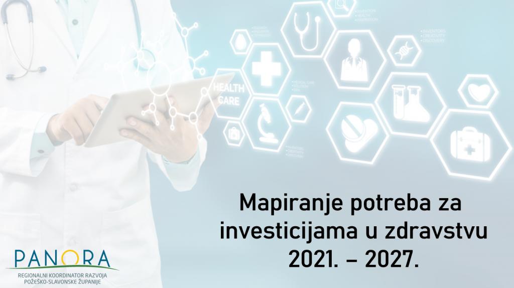 Mapiranje potreba za investicijama u zdravstvu i dugotrajnoj skrbi 2021.-2027.
