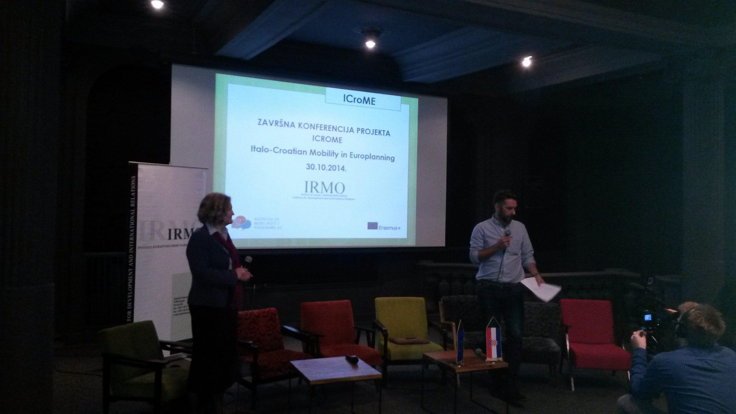 Održana završna konferencija projekta ICroME – Italo-Croatian Mobility in Europlanning