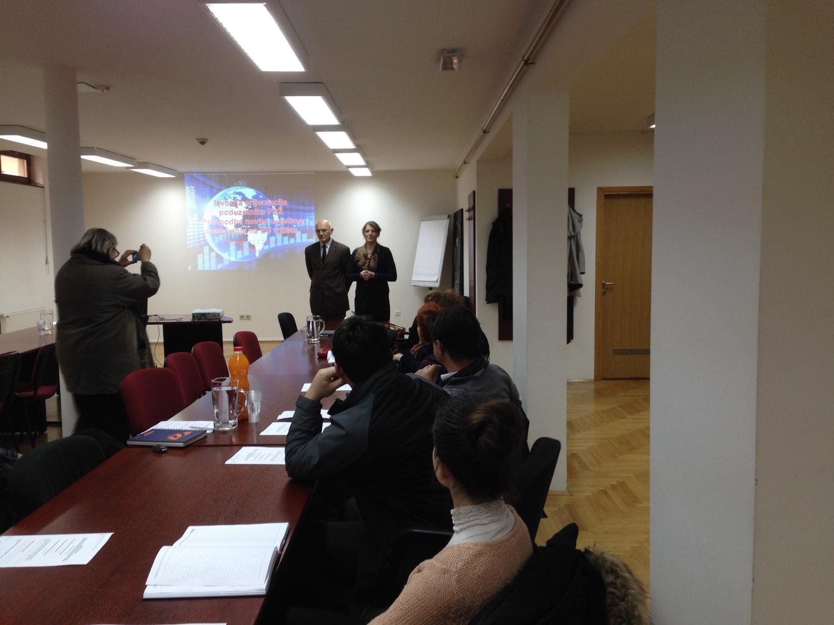 """""""Izvozna orijentacija poduzetnika Požeško-slavonske županije – Prilagodba novim uvjetima poslovanja na EU tržištu"""""""