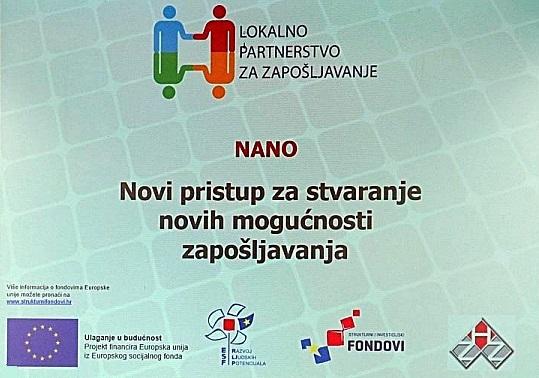 """Završna konferencija projekta """"Novi pristup za stvaranje novih mogućnosti zapošljavanja"""""""