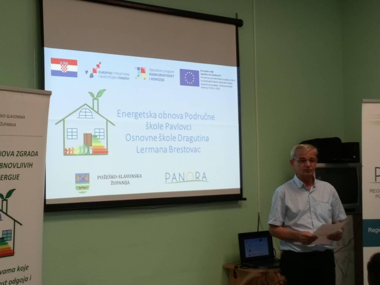 Održana završna konferencija projekta energetska obnova zgrade Područne škole Pavlovci, Osnovne škole Dragutina Lermana Brestovac